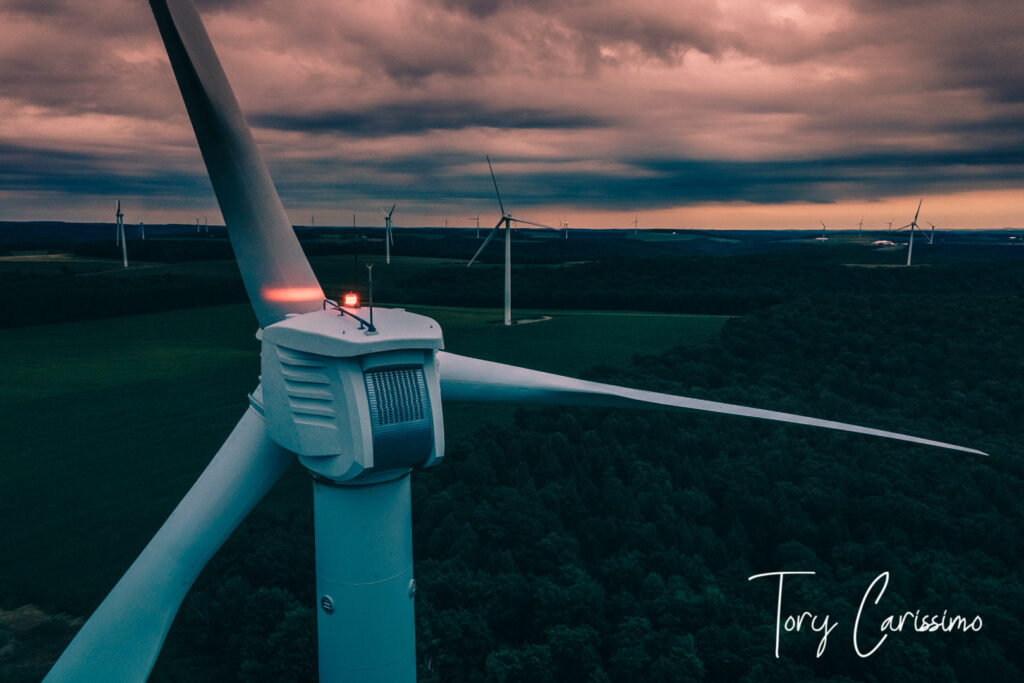 Wind Turbine in Cohocton NY by Tory Carissimo