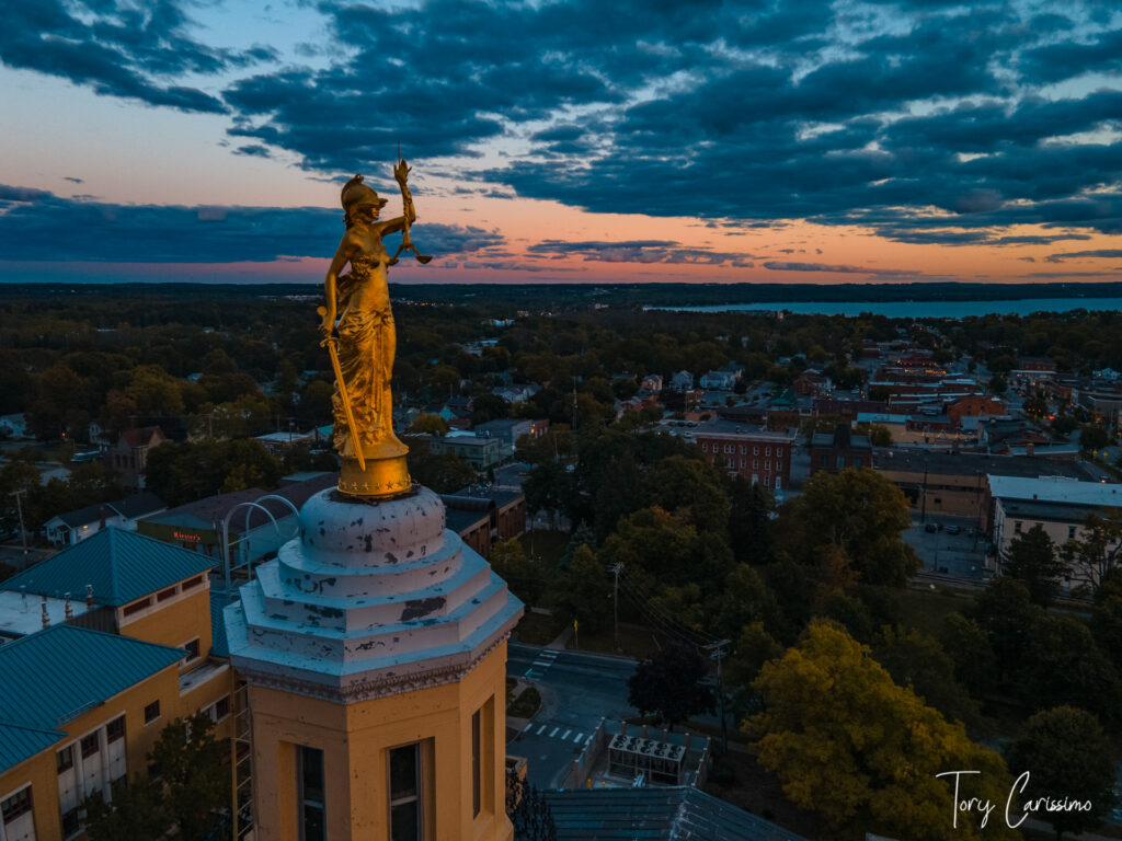 Ontario County NY Courthouse at Sunset by Carissimo Media